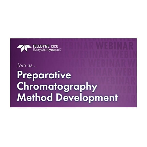 webinar preparative chromatography method development